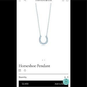 Tiffany Horseshoe Pendant